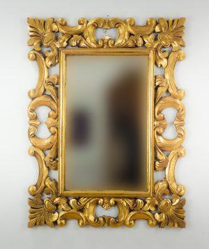 Espejo de pared decorativo Eiffell Oro (envejecido) de 100cm.