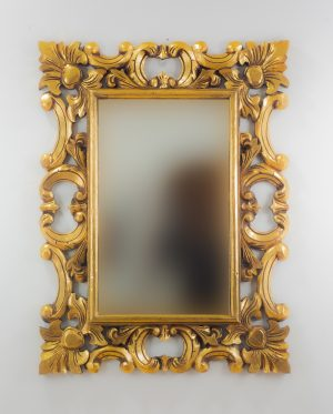 Espejo de pared decorativo Eiffell Oro (envejecido) de 80cm.