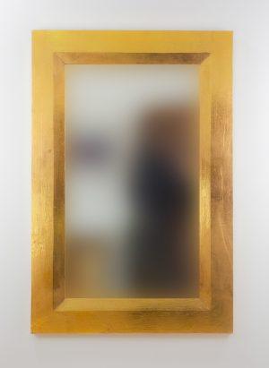 Espejo de pared decorativo Flat Miring Oro (envejecido) de 120cm.