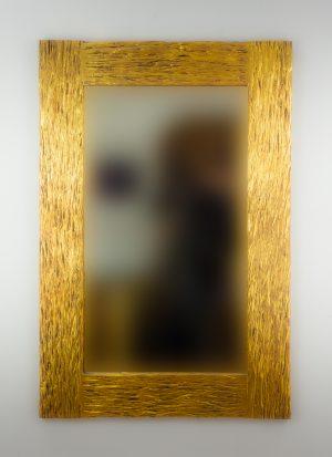 Espejo de pared decorativo Catak Urip Oro (envejecido) de 120cm.
