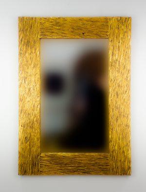 Espejo de pared decorativo Catak Urip Oro (envejecido) de 100cm.
