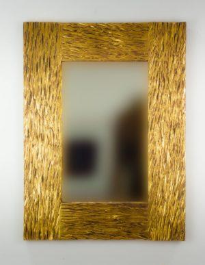 Espejo de pared decorativo Catak Urip Plata (envejecida) de 80cm.