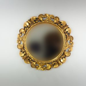 Espejo de pared decorativo Tommy circle Oro (envejecido) de 80cm.