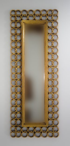 Espejo de pared decorativo Gold Chaine Oro (envejecido) de 160cm.