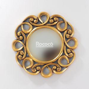 Espejo de pared decorativo Gospel Oro (envejecido) de 50cm.