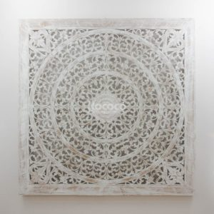 Espejo de pared decorativo Decowall Big Blanco (envejecido) de 160cm.