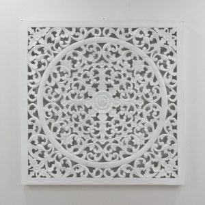 Mandala blanco de pared decorativo