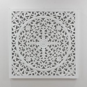 Espejo de pared decorativo Decowall Small Blanco de 100cm.