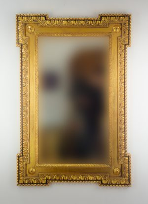 Espejo de pared decorativo Profile carved Oro (envejecido) de 120cm.
