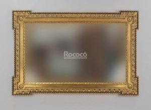 Espejo de pared decorativo Profile carved Oro (envejecido) de 150cm.
