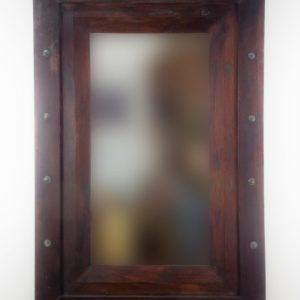 Espejo de pared decorativo Flat Miring Plinkut Brownie de 120cm.