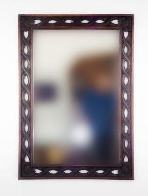 Espejo de pared decorativo Tali Bolong Brownie de 100cm.