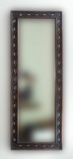 Espejo decorativo de madera Tali Bolong de 160x60 en Brownie