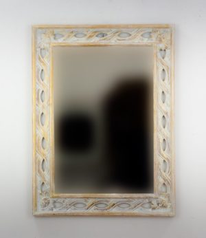 Espejo de pared decorativo Tali Bolong Pan de oro de 80cm.
