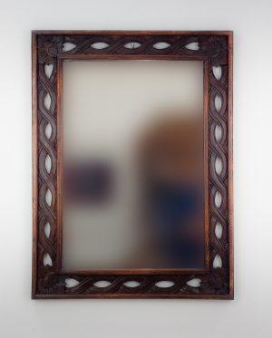 Espejo de pared decorativo Tali Bolong Brownie de 80cm.