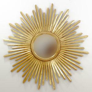 Espejo de pared decorativo Sunblast wide Oro (envejecido) de 120cm.