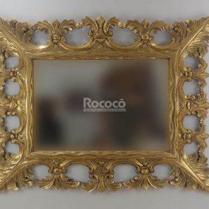 Espejo de pared decorativo Tuscany Mirror Oro (envejecido) de 150cm.