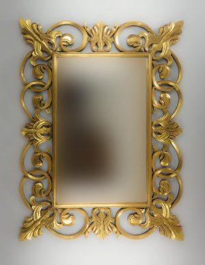 Espejo de pared decorativo Italiano Mirror Oro (envejecido) de 120cm.
