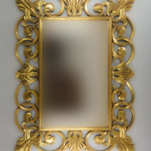 Espejo de pared decorativo Italiano Mirror Oro (envejecido) de 120cm.