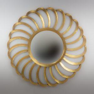 Espejo de pared decorativo Sea Waves Oro (envejecido) de 120cm.