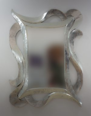 Espejo de pared decorativo Urban Hair Plata (envejecida) de 120cm.