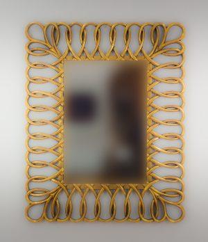 Espejo de pared decorativo Sevilla Mirror Oro (envejecido) de 100cm.