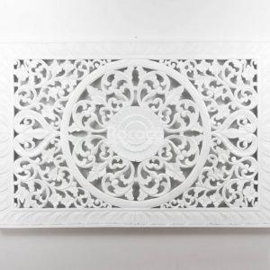 Espejo de pared decorativo Decowall Square Blanco de 150cm.
