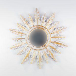 Espejo de pared decorativo Urban Surya Pan de oro de 50cm.
