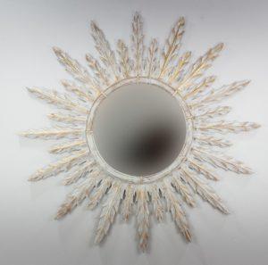 Espejo de pared decorativo Urban Surya Pan de oro de 120cm.