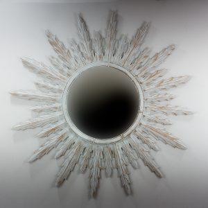 Espejo de pared decorativo Urban Surya Blanco (envejecido) de 120cm.