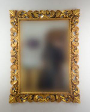 Espejo de pared decorativo Tommy Square Oro (envejecido) de 120cm.