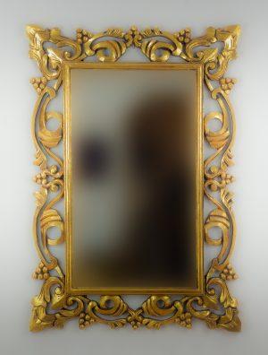 Espejo de pared decorativo Gada Warta Oro (envejecido) de 100cm.