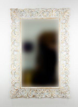 Espejo de pared decorativo Colonial Classic Pan de oro de 120cm.