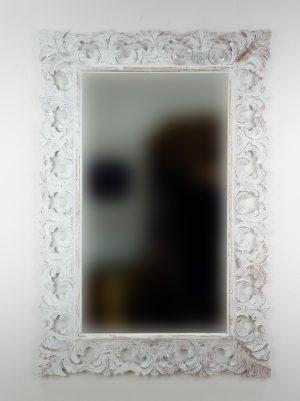 Espejo de pared decorativo Colonial Classic Blanco (envejecido) de 120cm.