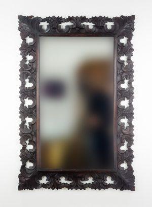 Espejo de pared decorativo Colonial Classic Brownie de 120cm.