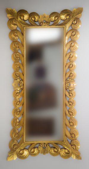 Espejo de pared decorativo Bolong Kadek Oro (envejecido) de 200cm.