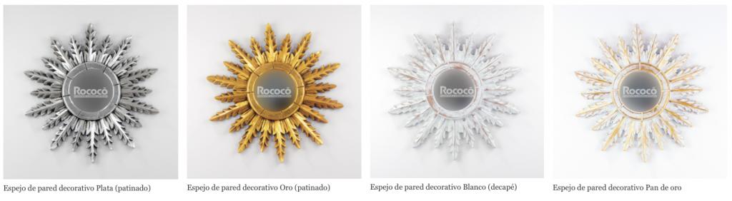 espejos decorativos rococo