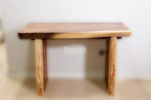Consola rústica de madera maciza de Suar de 120x80x50cm