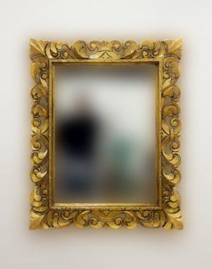 Espejo decorativo de madera Tommy Square de 80X100 en Oro (envejecido)