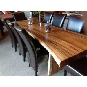 Mesa maciza de madera de suar pata madera