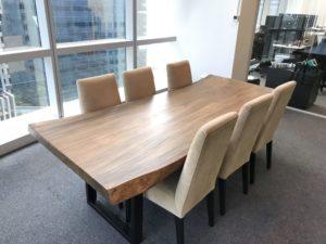 Mesa de oficina de madera de suar