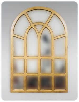 Espejo de pared decorativo Africani Oval Oro (envejecido) de 120x80cm. Rococó