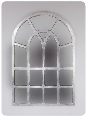 Espejo de pared decorativo Africani Oval Plata (envejecida) de 120x80cm. Rococó