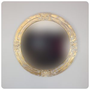 Espejo de pared decorativo Round Selem Pan de oro de 100x100cm. Rococó