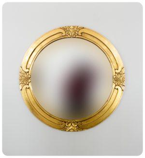 Espejo de pared decorativo Round Selem Oro (envejecido) de 100x100cm. Rococó