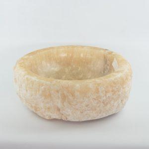 Lavabo redondo de piedra de Ónyx (imagen real)  40x40cm piezas únicas | mirococo.com