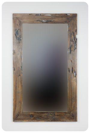 Espejo de pared decorativo Espejo rústico antigüo Natural de 150x90cm. Rococó