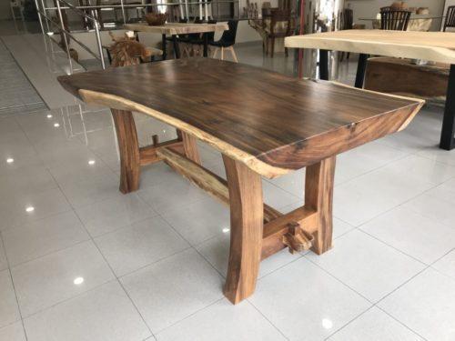 """Mesa de suar de 180cm pata de madera """"H"""""""