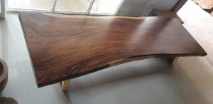 Mesas de madera de suar de una pieza de 4 metros