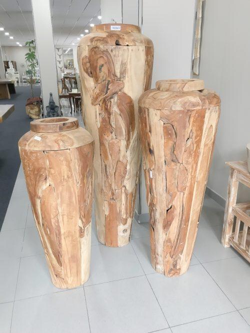 Vasijas gigantes de madera